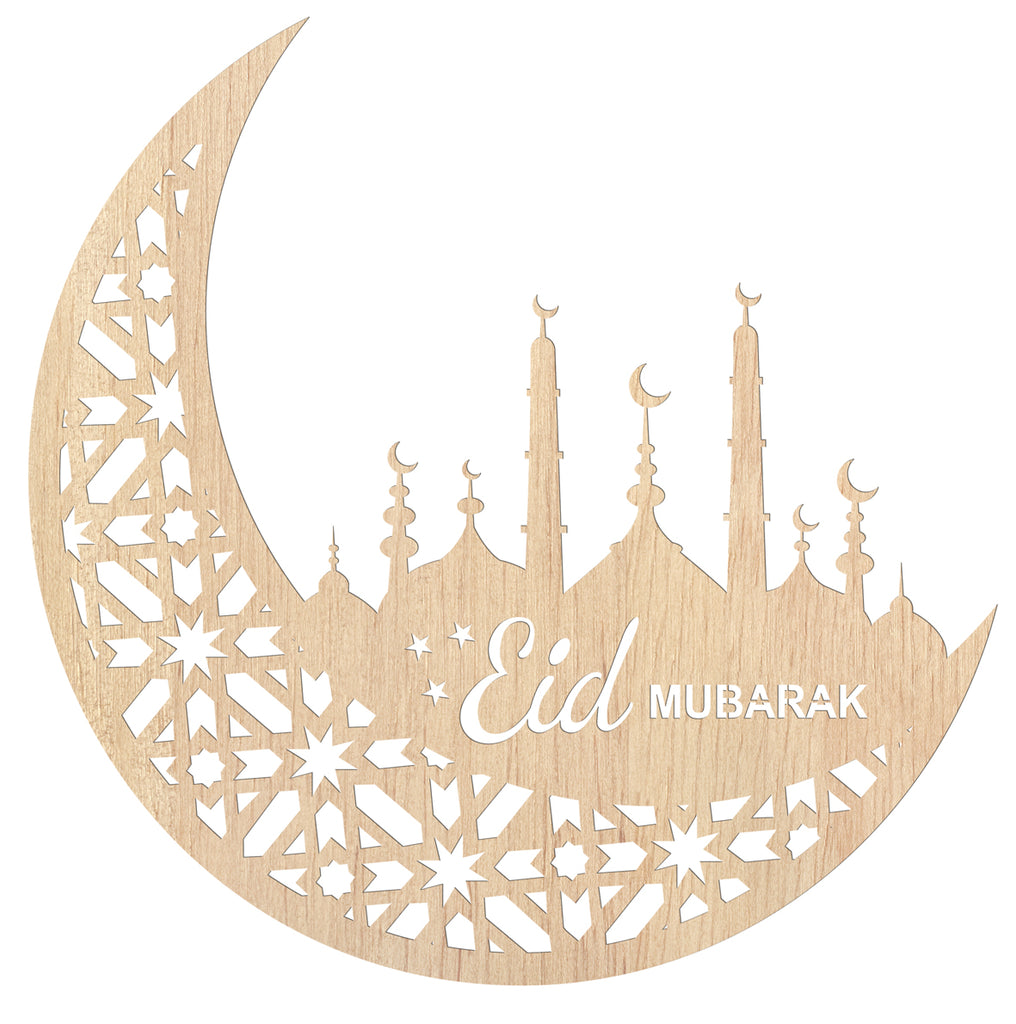 Paint your Own Eid Mubarak Crescent - Noor al-Ilm