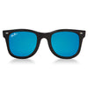 Polarized WeeFarers Baby Sunglasses Black and Ocean Blue front