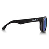 Polarized WeeFarers Baby Sunglasses Black and Ocean Blue side