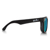 Polarized WeeFarers Baby Sunglasses Black and Sea Green side