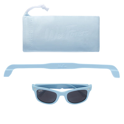 Polarized WeeFarers Baby Sunglasses Blue Strap Pouch