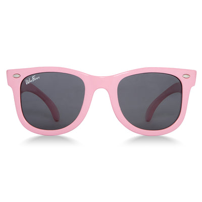 Polarized WeeFarers Baby Sunglasses Pink - front