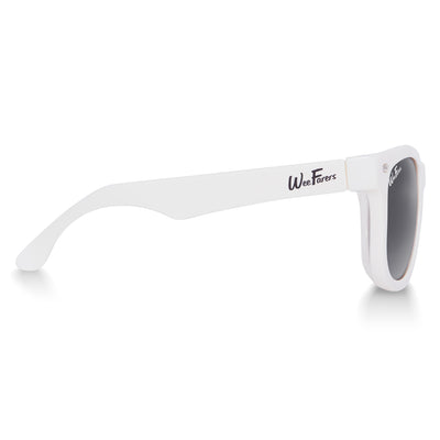 Polarized WeeFarers Baby Sunglasses White