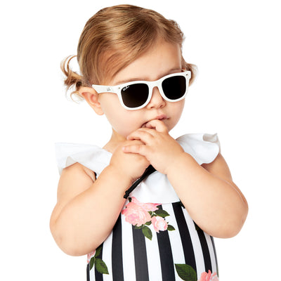 Polarized WeeFarers Girl Baby Sunglasses White