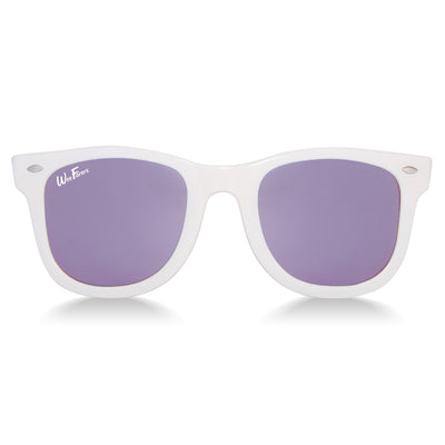 Polarized WeeFarers Baby Sunglasses White and Purple front