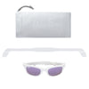 Polarized WeeFarers Baby Sunglasses White and Purple with strap and pouch