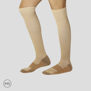 Cooper Beige - Compression Socks