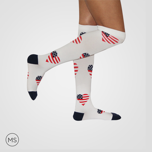 US Heart - Compression Socks