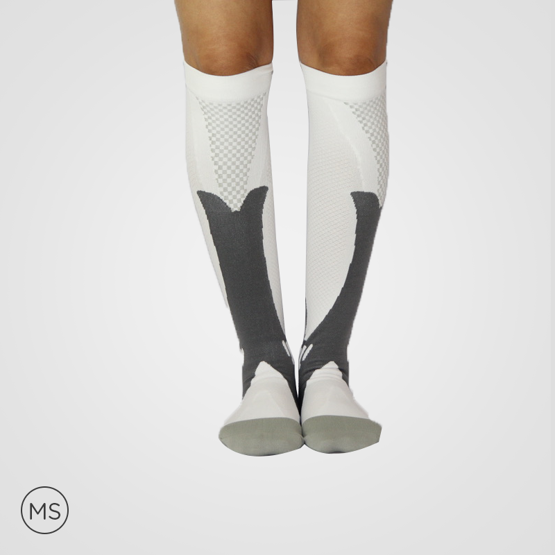 Sports White - Compression Socks