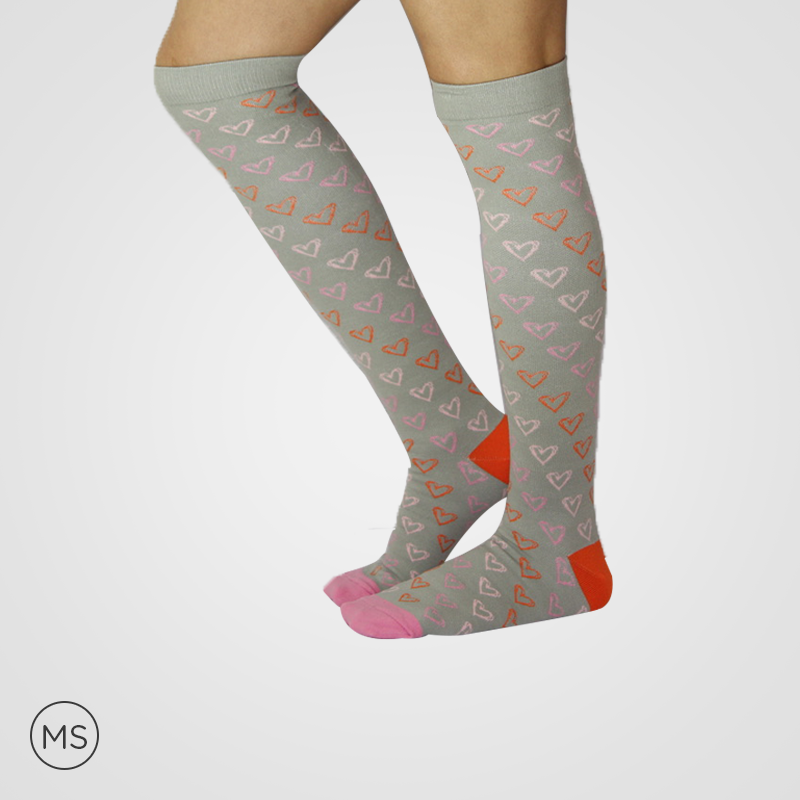 Color Hearts - Compression Sock