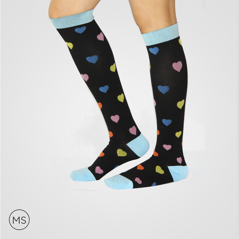 Blue Band Hearts  - Compression Socks