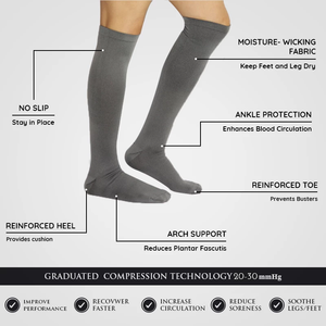 Regular Grey - Compression Socks