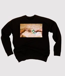 Pass The Marijuana Black Sweatshirt