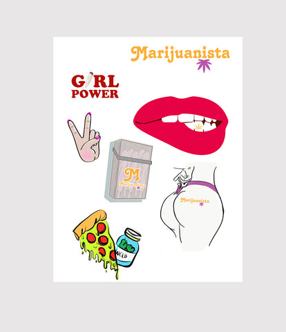 Marijuanista Sticker Set
