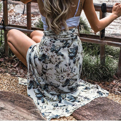 Sexy Printed Strappy Skirt