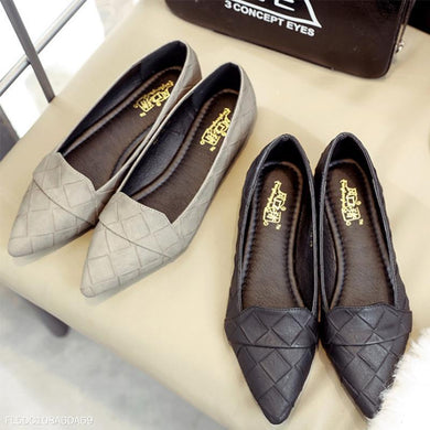 Fashion Pointed Plaid Flat Shoes