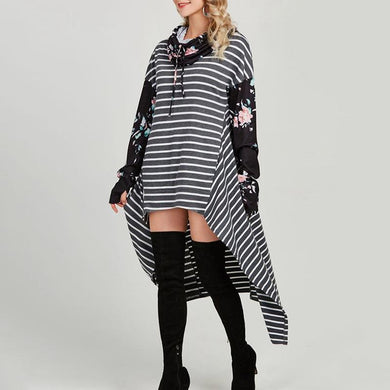 Casual Long Hoodies With Stripes