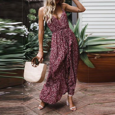 Sexy Bow Floral Camisole Dress