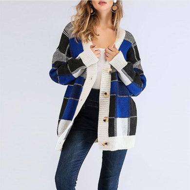 Single Breasted  Gingham Cardigans