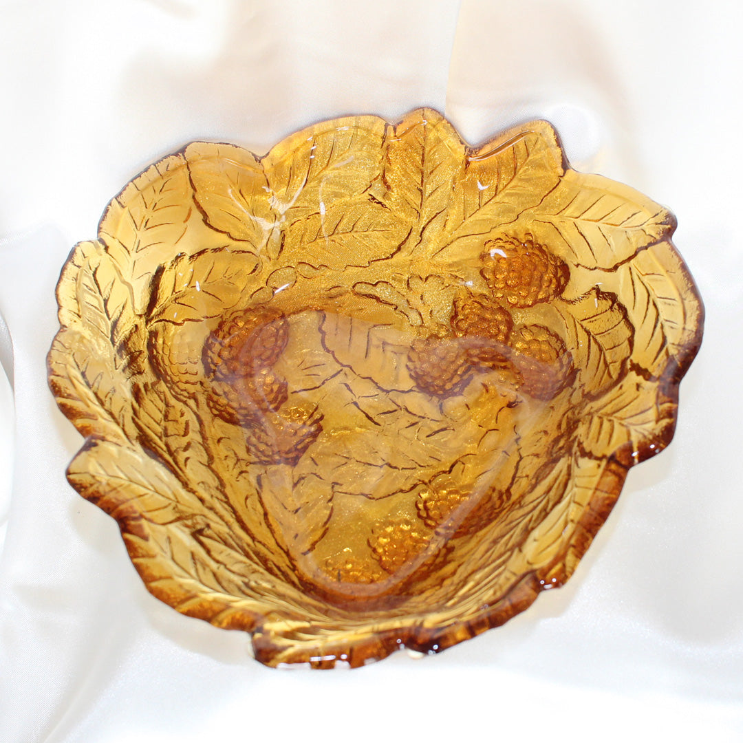 Amber Leaf Bowl | Vintage Home Decor | Mass Over Matter