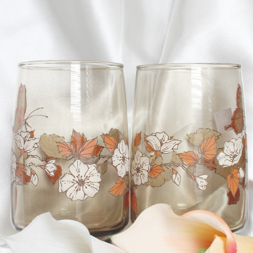 Vintage Libbey Butterfly Drinking Glasses | Mass Over Matter