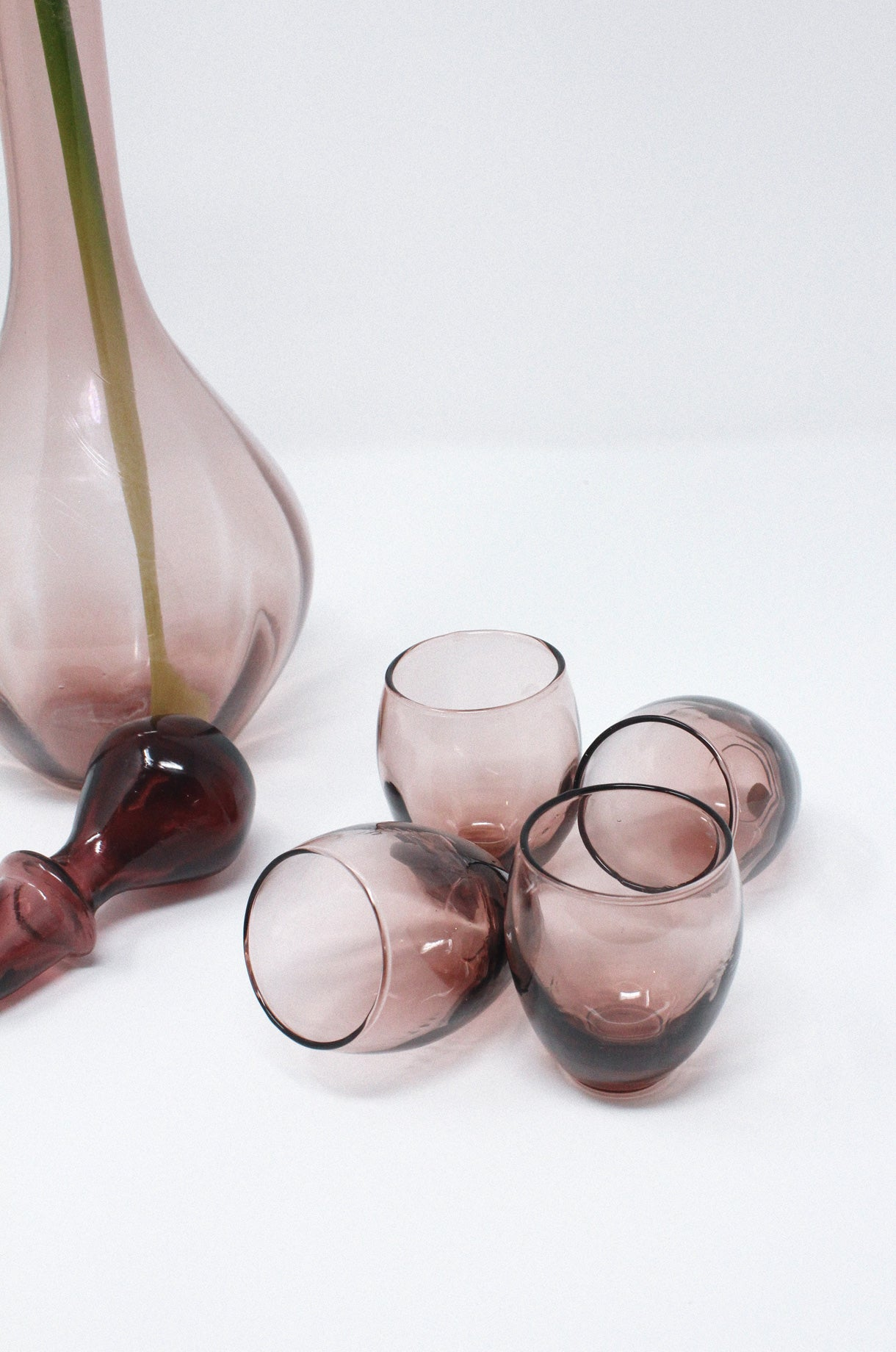 Purple Decanter + Shot Glass Set