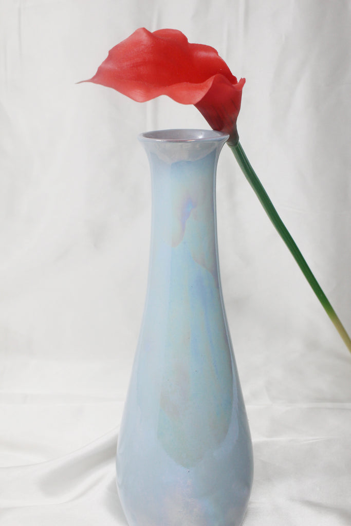 Light Blue Iridescent Vase