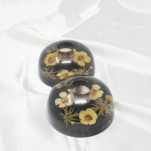Encapsulated Flowers Candlestick Holders