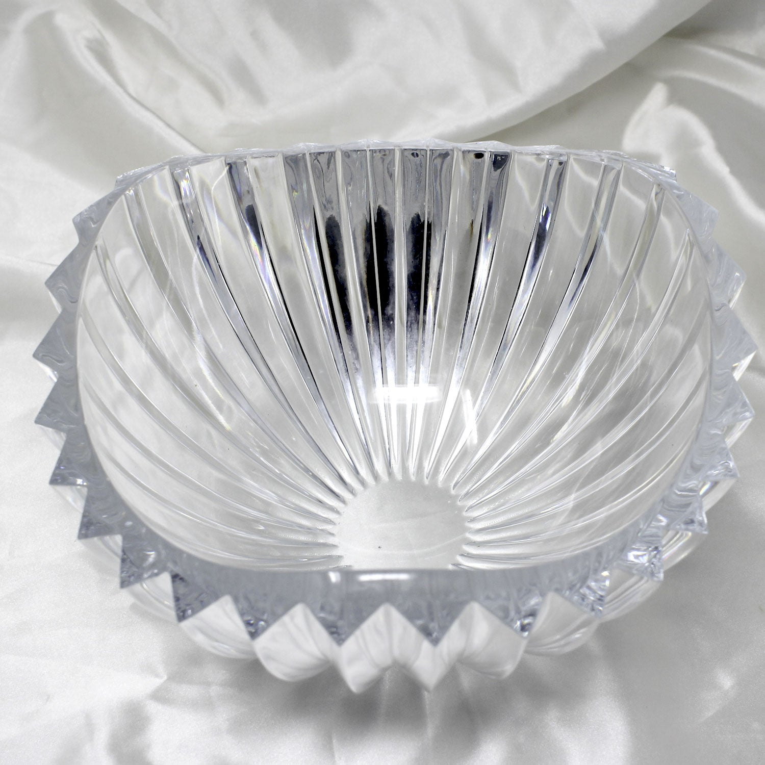 Wavy Cut Crystal Fruit Bowl