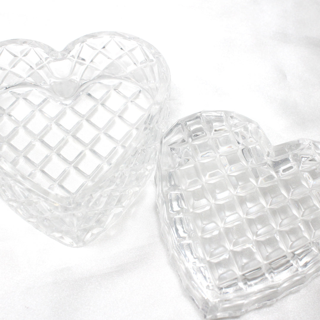 Heart Shaped Crystal Trinket Box