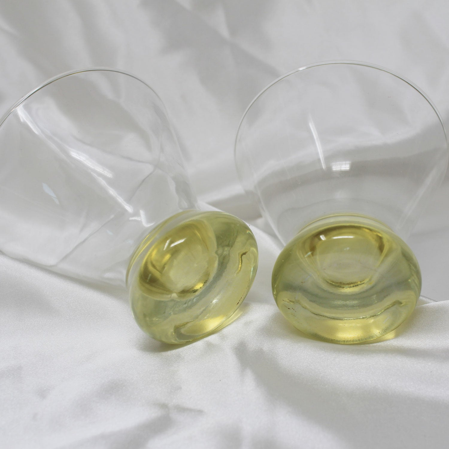 Yellow Bottom Cocktail Glasses