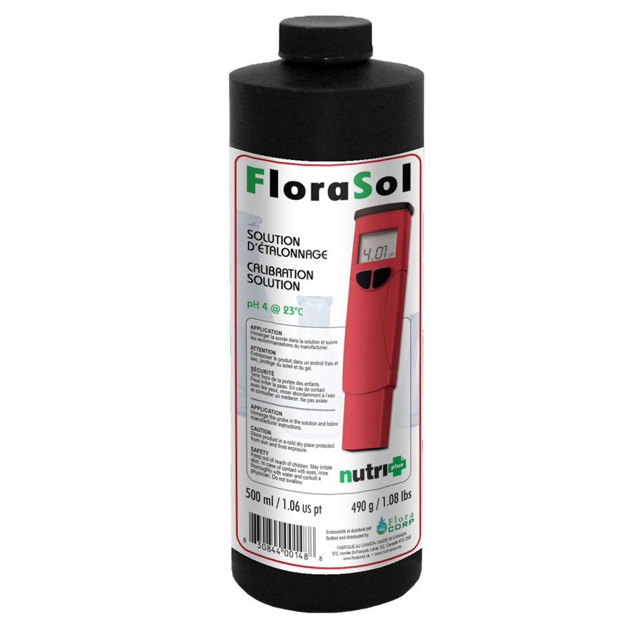 NUTRI+ FLORASOL CALIBRATION SOLUTION PH 4 500ML