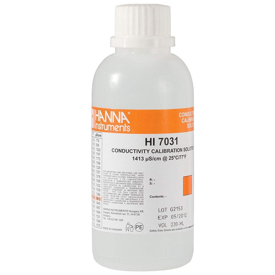 HANNA HI 7031L EC SOLUTION 1413 µS / CM 500 ML