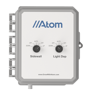ATOM Dual Motor Light Deprivation and Sidewalls Greenhouse Controller