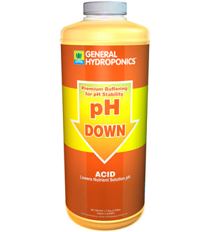 General Hydroponics pH DOWN (1qt) - USA only