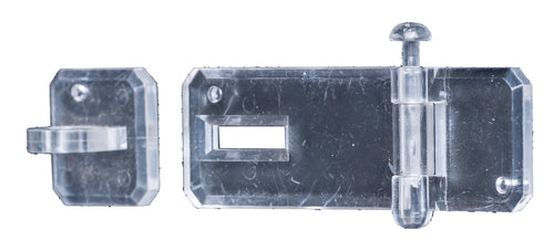 Hasp & Staple Clear Acrylic