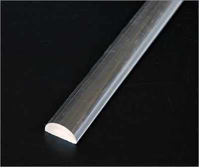"Out of stock Half Round 5/8"" x 6' (16mm x 1830mm)Rod Extruded Clear Acrylic"
