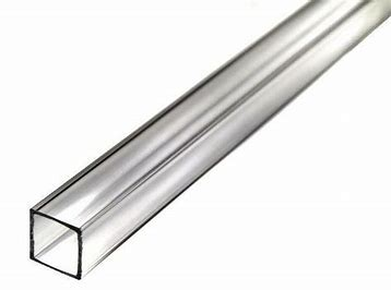 "Square Acrylic tube 1"" x 3/4"" x 6' (25.4mm x 19.05mm x 18300mm)"