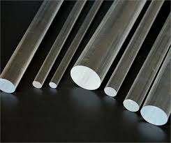 "Rod 2 1/2""x 6' (57mm x 1830mm) Extruded Clear Acrylic"