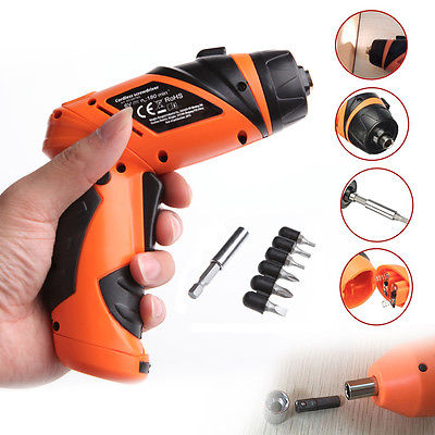 6V Electric Screwdriver Cordless Drill Mini Wireless Power Driver DC Battery Repair Tool Kit