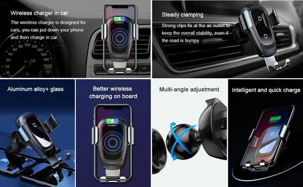 Wireless Car Charging Air Vent Mount Phone Holder
