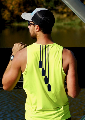 USRowing Hi-Viz JL Racing Rowing Tank Top Row Performance Apparel Mens