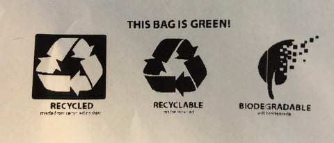 Recycled, Recyclable, Biodegradable