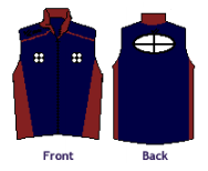 Men's Midweight Sequel Turtleshell Vest Navy Blue With Maroon - THOMPSON BOAT CENTER