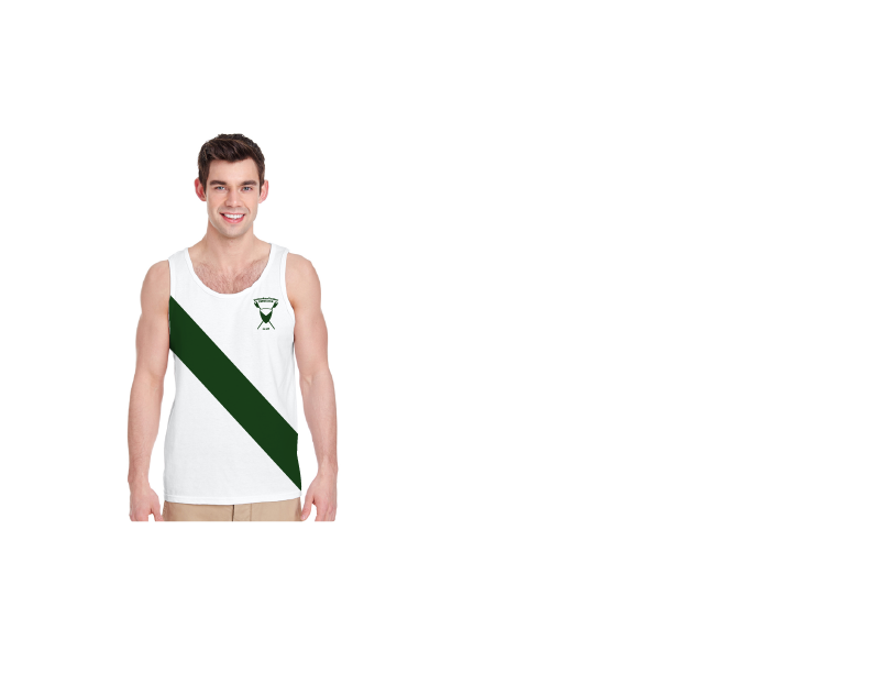 Men's White Cotton Tank - MICHIGAN STATE