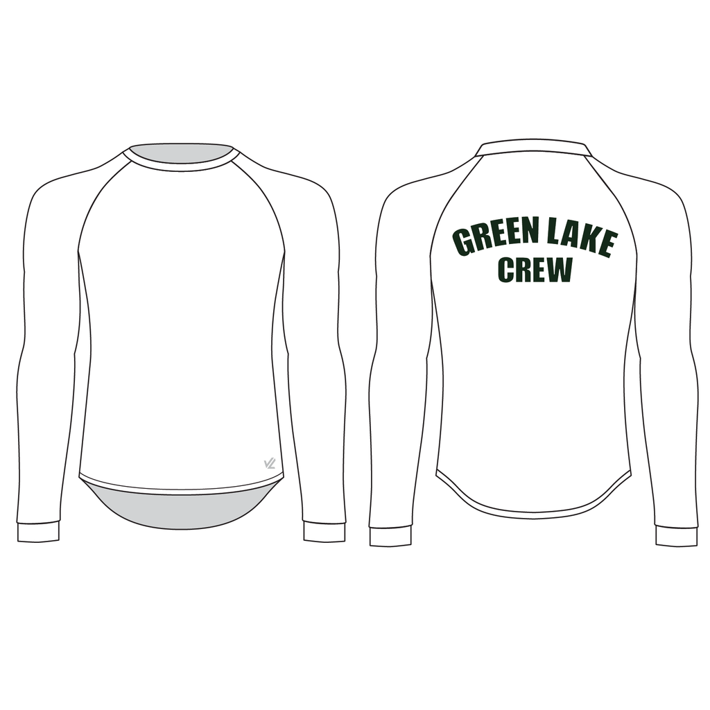 *Super lightweight* Men's Tech Shirt Long Sleeve - GREEN LAKE