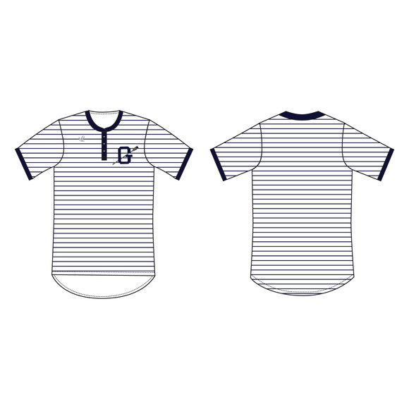 Men's Loose Henley Short Sleeve Crew Neck - GEORGETOWN UNIV.