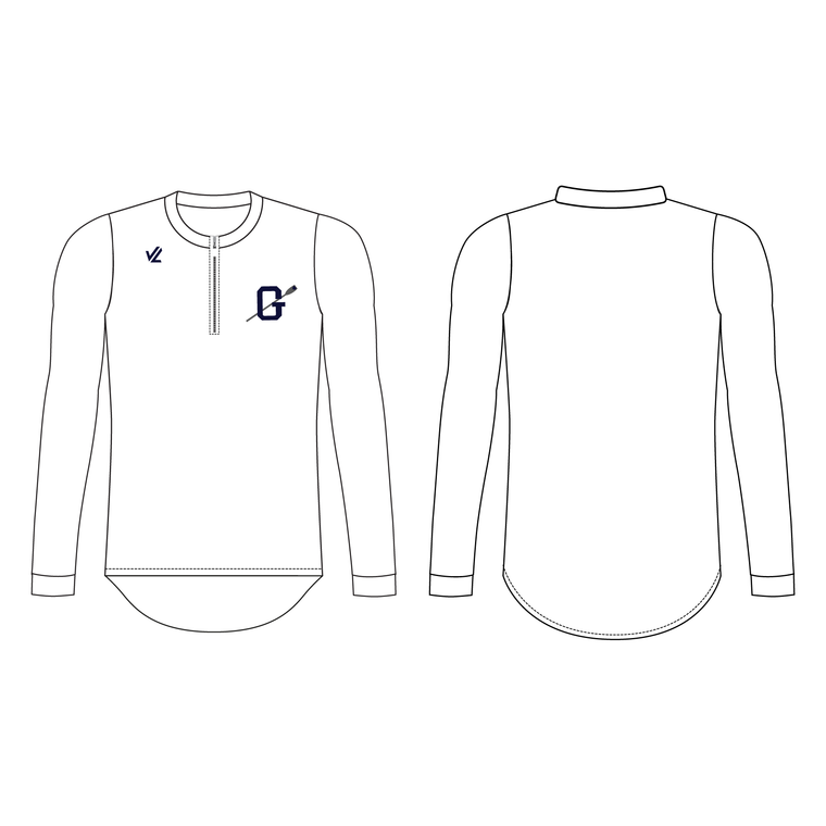 Men's Loose Long Sleeve Quarter Zip Shirt - GEORGETOWN UNIV.