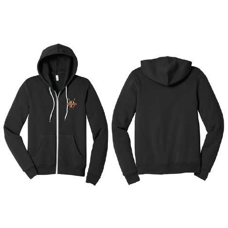 Unisex Full Zip Hooded Sweatshirt - BALTIMORE R.C