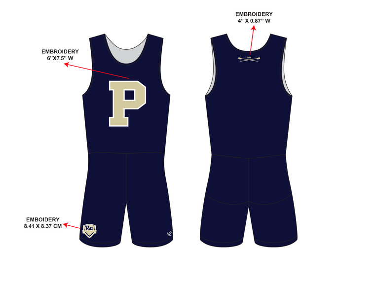 "Men's Classic ""P"" Unisuit - UNIVERSITY PITTSBURGH"